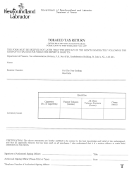 "Form T ""Tobacco Tax Return (Wholesaler Non-accountable)"" - Newfoundland and Labrador, Canada"