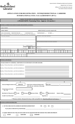 """Application for Registration - Interjurisdictional Carriers International Fuel Tax Agreement (Ifta)"" - Newfoundland and Labrador, Canada"