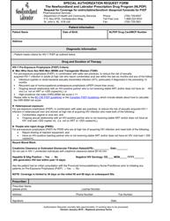"""Special Authorization Request Form - Request for Coverage for Emtricitabine/Tenofovir Disoproxil Fumarate for Prep"" - Newfoundland and Labrador, Canada"