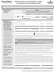 """Forme M6463 """"Formulaire De Changement Visant La Designation De Beneficiaire"""" - Newfoundland and Labrador, Canada (French)"""