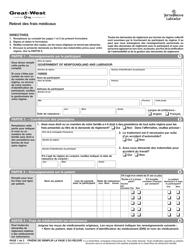 """Forme M635D """"Releve DES Frais Medicaux"""" - Newfoundland and Labrador, Canada (French)"""