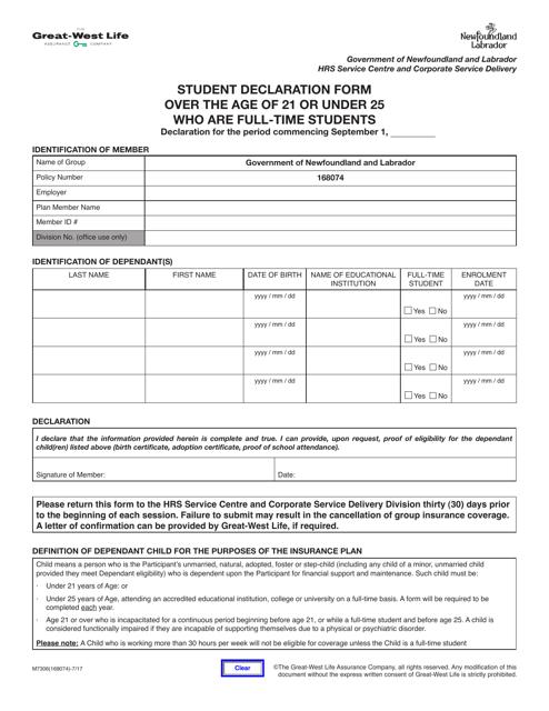 Form M7306 Printable Pdf