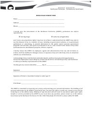 """Media Usage Consent Form"" - Northwest Territories, Canada (English/French)"