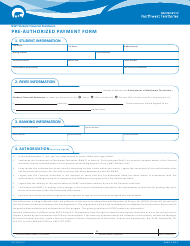 "Form NWT9005 ""Pre-authorized Payment Form"" - Northwest Territories, Canada"