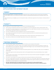"Form NWT9004 ""Application for Interest Relief"" - Northwest Territories, Canada"