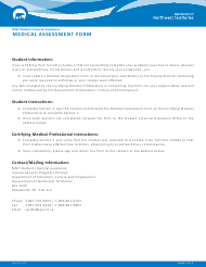 "Form NWT9007 ""Medical Assessment Form"" - Northwest Territories, Canada"
