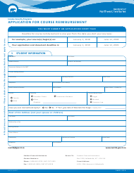 "Form NWT8712 ""Application for Course Reimbursement"" - Northwest Territories, Canada"
