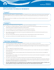 "Form NWT9003 ""Application to Reduce Payments"" - Northwest Territories, Canada"