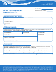 "Form N ""Third Party Direct Deposit Information"" - Northwest Territories, Canada"