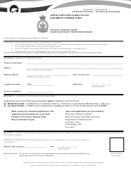 """""""Application for Veteran Plate Eligibility Certification"""" - Northwest Territories, Canada"""