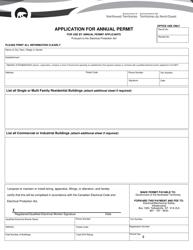 """Application for Annual Permit"" - Northwest Territories, Canada"