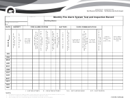 """Form CAN/ULC-S536-04 """"Monthly Fire Alarm System Test and Inspection Record"""" - Northwest Territories, Canada"""