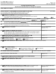 """Form SSA-1383 """"Student Reporting Form"""""""