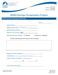"""Wildlife Damage Compensation Claim Form"" - Nunavut, Canada"