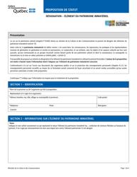 """Designation - Element Du Patrimoine Immateriel"" - Quebec, Canada (French)"