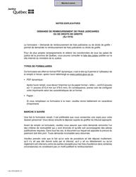 """Forme SJ-1010 """"Demande De Remboursement De Frais Judiciaires Ou De Droits De Greffe"""" - Quebec, Canada (French)"""