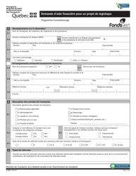 """Forme V-3180 """"Demande D'aide Financiere Pour Un Projet De Logistique - Programme Ecocamionnage"""" - Quebec, Canada (French)"""