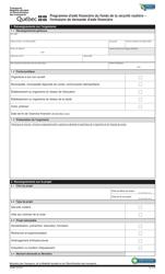 """Forme V-3120 """"Programme D'aide Financiere Du Fonds De La Securite Routiere - Formulaire De Demande D'aide Financiere"""" - Quebec, Canada (French)"""