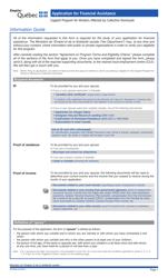 "Form SR-2554A ""Application for Financial Assistance"" - Quebec, Canada"