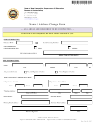 """Name / Address Change Form"" - New Hampshire"
