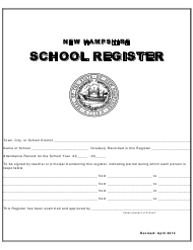 """School Register"" - New Hampshire"