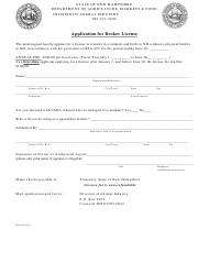 """""""Application for Broker License"""" - New Hampshire"""