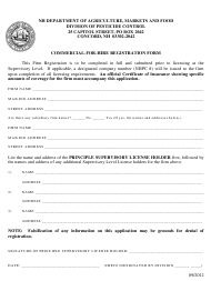 """""""Commercial-For-Hire Registration Form"""" - New Hampshire"""