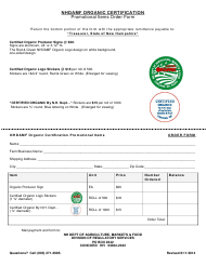 """""""Nhdamf Organic Certification Promotional Items Order Form"""" - New Hampshire"""