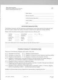 "Form 177A ""Interview Observations"" - New Hampshire"