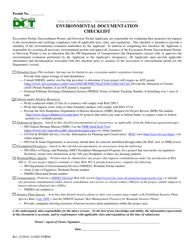 """Environmental Documentation Checklist (Long Form)"" - New Hampshire"