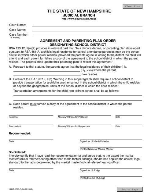 Form NHJB-2763-F  Printable Pdf