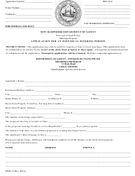 """Form DSSS18 """"Application for an Individual Mooring Permit"""" - New Hampshire"""