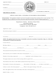"""Form DSSS19 """"Application for a Congregate Mooring Field Permit"""" - New Hampshire"""