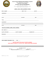 """Form DSFM57 """"Label Void/Replacement Form"""" - New Hampshire"""
