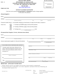 """Form DDI-11 """"Notice to Change Suppliers"""" - New Jersey"""