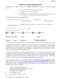 """Form 241 """"Letter to Verify Employment"""" - New Jersey"""