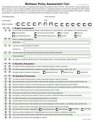 """Form 357 """"Wellness Policy Assessment Tool"""" - New Jersey"""