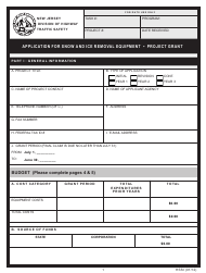 """Form HSSI """"Application for Snow and ICE Removal Equipment - Project Grant"""" - New Jersey"""
