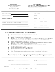 "Form ES-90G ""Application for Type Certification (Inflatables)"" - New Jersey"