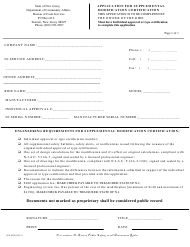 "Form ES-90E ""Application for Supplemental Modification Certification"" - New Jersey"