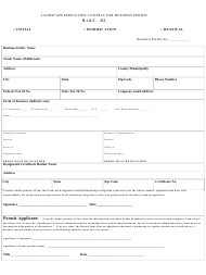 """Landscape Irrigation Contractor Business Permit"" - New Jersey"