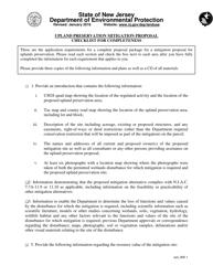 """""""Upland Preservation Mitigation Proposal Checklist"""" - New Jersey"""