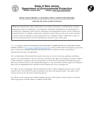 """""""Mitigation Project Construction Completion Report Checklist"""" - New Jersey"""