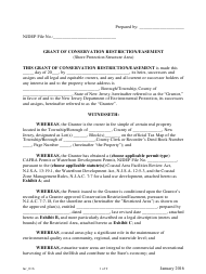 """Grant of Conservation Restriction/Easement (Shore Protection Structure Area)"" - New Jersey"