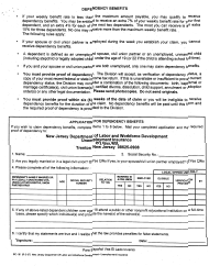 "Form BC-181 ""Application for Dependency Benefits"" - New Jersey (English/Spanish)"