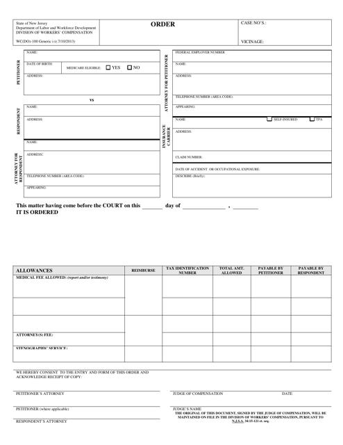 Form WC(DO)-100  Printable Pdf