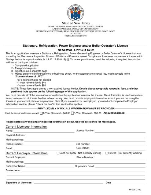 Form MI-228  Printable Pdf