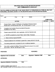 "NJDMAVA Form 88 ""Enlisted Qualitative Retention Board Unit Commander's Checklist"" - New Jersey"