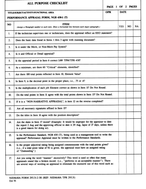 NJDMAVA Form 293.31-2-3R  Printable Pdf
