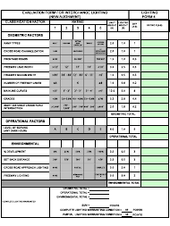 """Form LF-4 """"Evaluation Form for Interchange Lighting (New Alignment)"""" - New Jersey"""